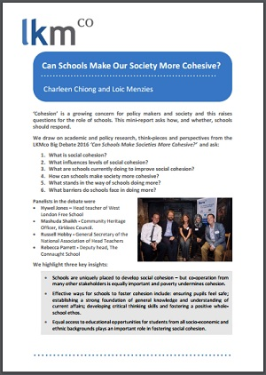 Can Schools Make Society More Cohesive? | Association for