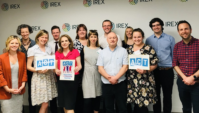 UK Citizenship teachers alongside educators from IREX in Washington DC